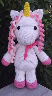Unicornio Tejido A Crochet