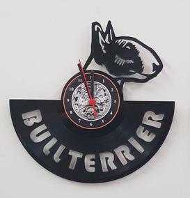Bull Terrier, Cachorro Pet Shop, Relógio, Disco De Vinil