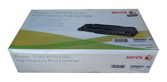 Toner Xerox 3140 / 3155 / 3160 / 108r00909 Original Novo