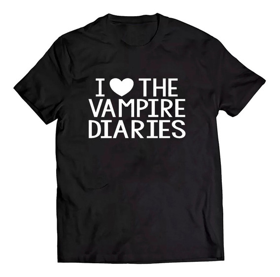 Camiseta The Vampire Diaries Serie Frase I Love Camisa