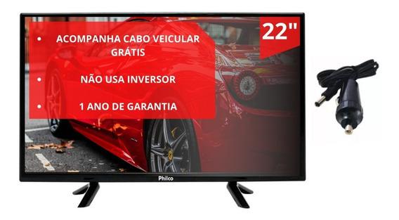 Tv 22 Philco 12volt Caminhão Ônibus Trailer Van 12v Portatil