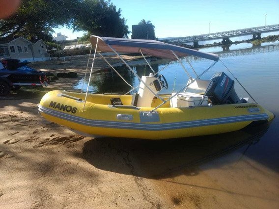 Barco Lancha Bote Inflavel Completo Motor 85 Hp Ac Troca