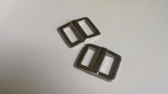 Fivela Cinto Prata 35mm - Kit 9 Unidades