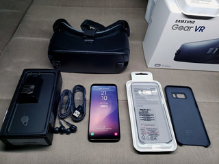 Samsung Galaxy S8 64gb Preto + Gear Vr - Estado De Novo!