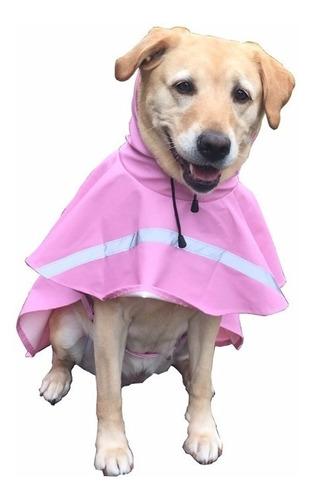 Capa De Chuva Cães Cachorro Médio Grande Tam 09 Azul E Rosa