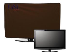 Capa Luxo Tv Lg Samsung Led Lcd Corino Impermeável Até 55