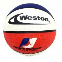 Balón De Baloncesto Weston Wb1000 N° 7 Blanco/azúl/rojo