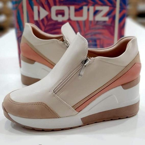 Quiz Champión Plataforma Sneaker Beige- Napa- Envíos