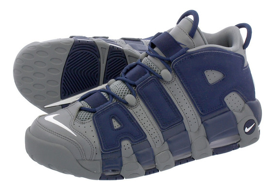 Nike Air Uptempo Cool Grey Midnight Navy