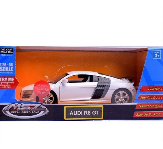 Auto De Coleccion Audi R8 Gt Escala 1:32 Msz C/ Luz Y Sonido