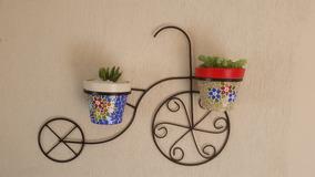Duas Bicicletas Decorativas Suporte Para Plantas