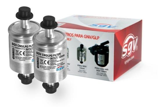 2 Filtros Para Gnv Gás Natural Veícular 5ª Geração 12mm Sgv