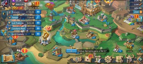 Jogo Lords Mobile 6m De Poder 32k Gemas Castelo 22