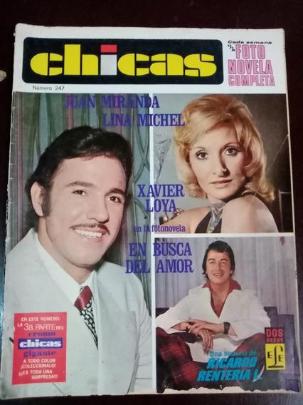 Xavier Loya, Lina Michel Y Juan Miranda En Fotonovela Chicas