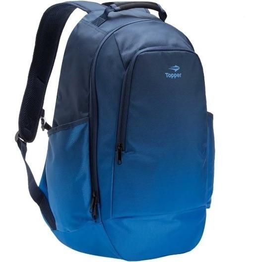 Mochila Topper Sport Dúo Azul Importada 160631