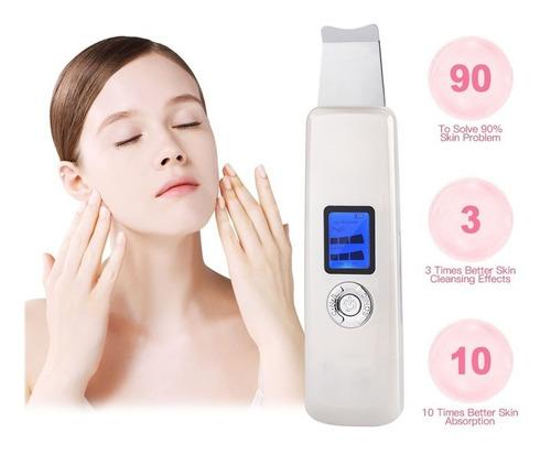 Imagen 1 de 10 de Espatula Masajeador Facial Peeling Ultrasonica Limpia Poros