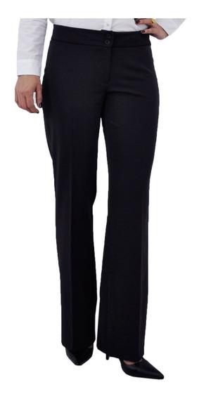 Calça Feminina Social Preta Com Lycra Cintura Alta Kit 3