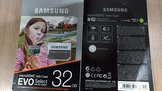 Cartão Micro Sd 32gb Samsung Evo Classe 10 Alta Velocid