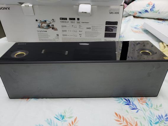Caixa De Som Sony Com Fio E Sem Fio (bluetooth) Srs-x99