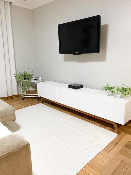 Tapete Sala Quarto Luxo 1,32m X 2,50m Antiderrapante Safira