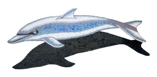 Imagen 1 de 7 de Mosaico Figura Delfin Gris De 1.25 Mts Para Alberca