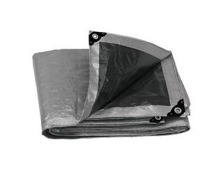 Lona Gris Reforzada Con Ojillos De Aluminio 6m X 9m Truper