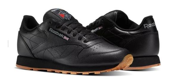 Tenis Reebok Leather Clasico Negro Unisex