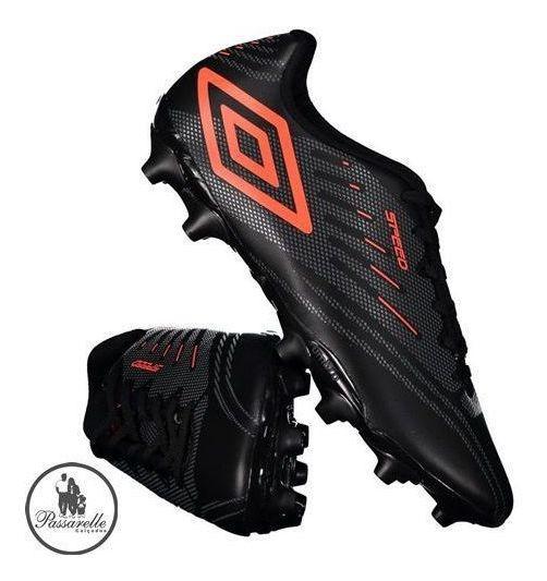 Chuteira Campo Umbro Soccer Shoes Speed 4 Travas Altas Preto