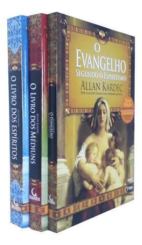 Kit Allan Kardec Espiritos Mediuns Evangelho Facil Leitura