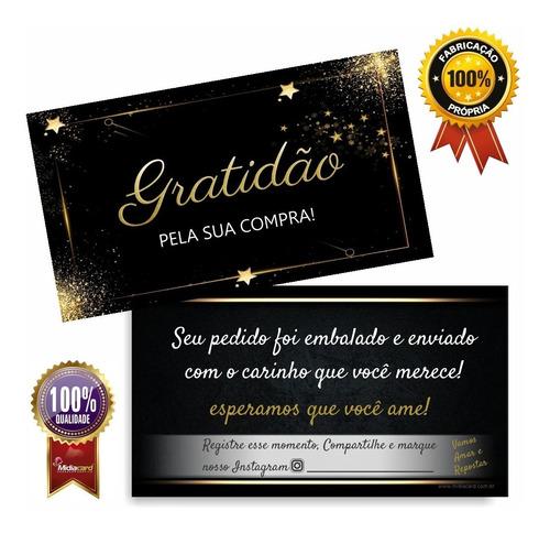 Imagem 1 de 4 de Cartão De Agradecimento (obrigado Pela Sua Compra) Pct 100