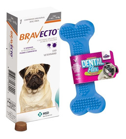Bravecto Antipulgas E Carrapatos Cães De 4,5 A 10kg + Brinde