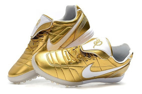 Chuteira Society Nike Tiempo Legend 7 R10 Elite Golden :
