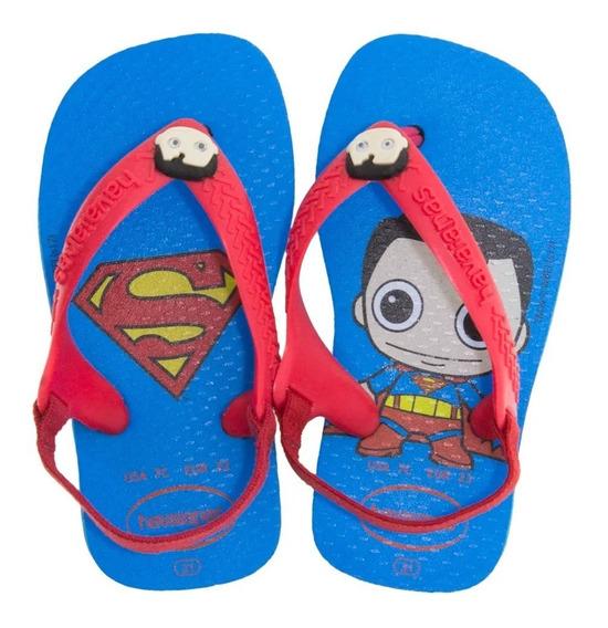 Chinelo Havaianas Baby Heróis Superman Mulher Maravilha