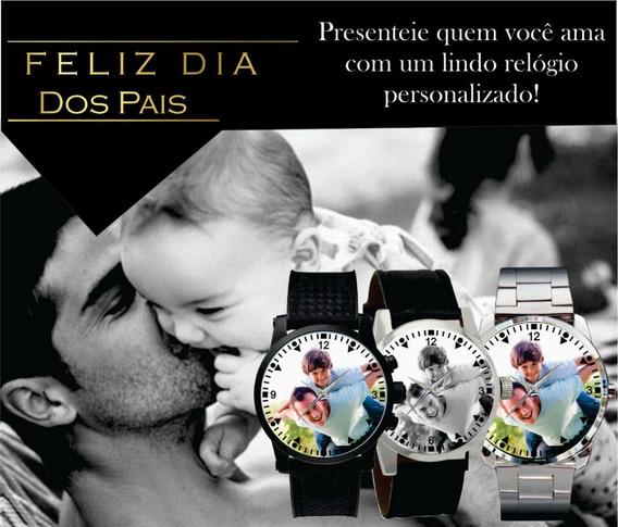Relógio De Pulso Personalizado Masculino Dia Dos Pais 2020