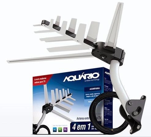 Antena Externa Dtv2000 Vhf/uhf/hdtv Digital Aquario