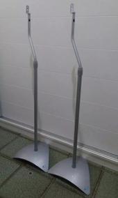 Conjunto C/ 4 Pedestais Iron Para Home Theater Semi Novos