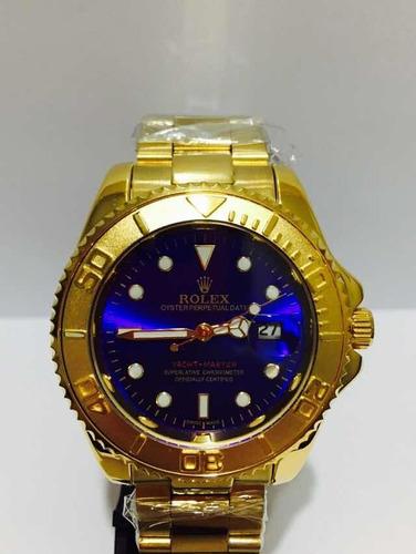 Relógio Submariner Yacht-master Gold Blue