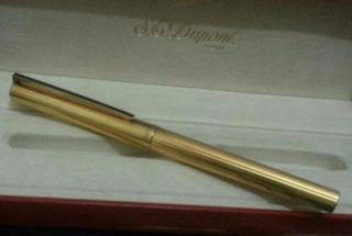 St. Dupont Foutain Pen Sterling 925 / Vermeil / 18k. Point