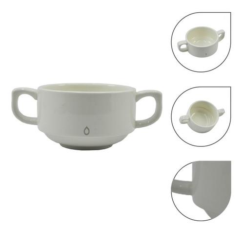 Imagen 1 de 4 de Pocillo Para Café En Porcelana Con Dos Asas.