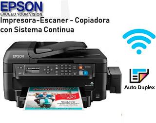 Impresora Epson Wf2750+duplex Mejor Q L380 L3110 L3150 L4150