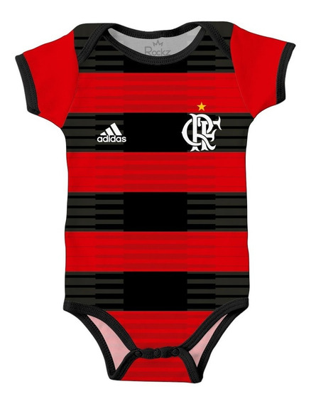 Body Flamengo Infantil Futebol Bebê Personalizado C/ Nome