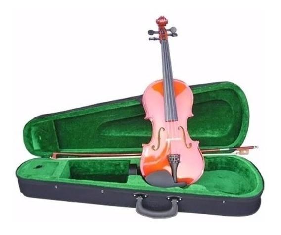 Violin De Estudio Principiante 4/4 Estuche Arco Y Resina Cuo