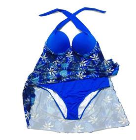Maiô Plus Size Vestido Saída De Praia Embutida - Com Bojo