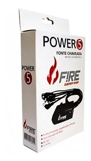 Fire Power 5 - Chaveada Bivolt Fonte 9v P/ Até 5 Pedais Fire