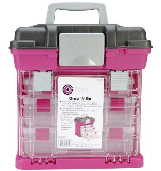 Caja Organizadora Mediana Pink Craft Dentista Herramientas Personalizada