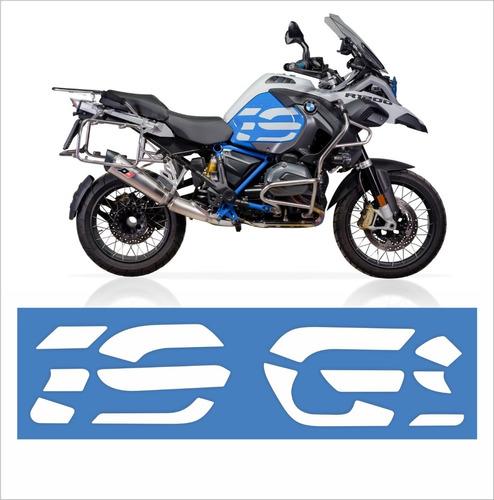 Imagem 1 de 2 de Par Adesivos Emblemas Laterais Bmw R1200 Gs Adventure Branco