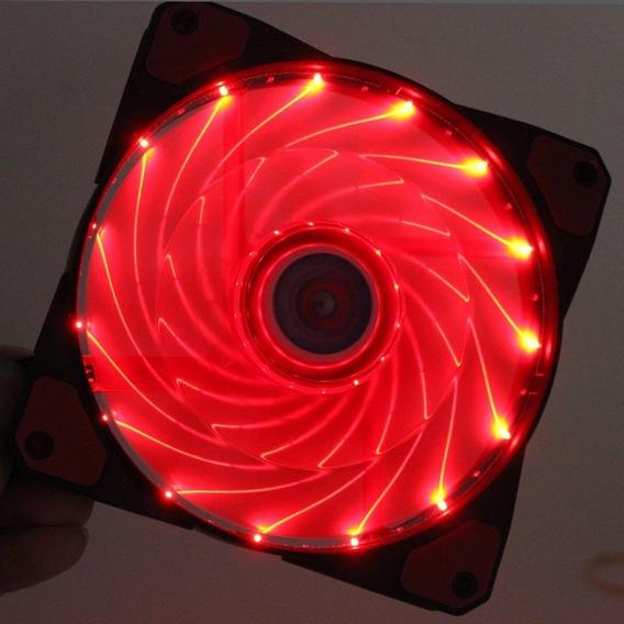 Fan Cooler Led Rojo 120mm