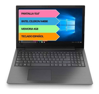 Notebook Lenovo N4000 4gb 128gb Ssd Hd 15.6 Dvdrw