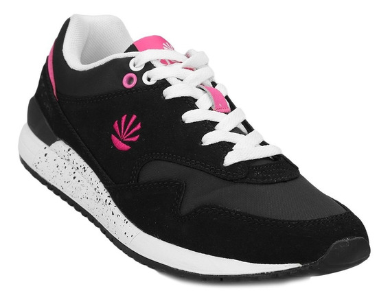 Zapatillas Kioshi Boston W Black Fucsia