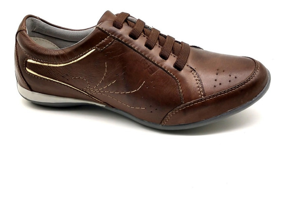 Sapato Sapatênis Feminino Casual Couro Bmbrasil 229/03